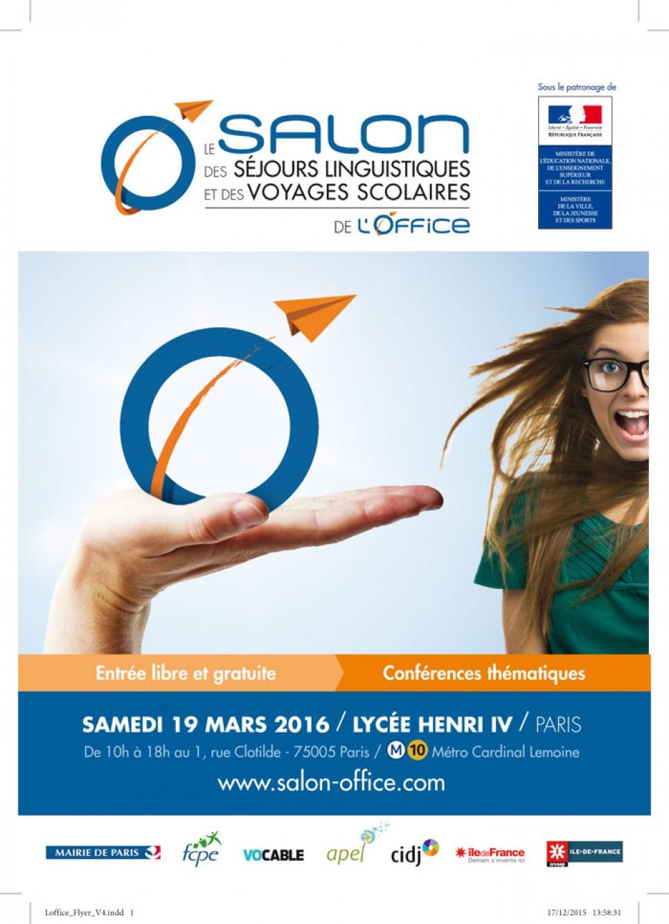 Gsl s jour sera pr sent au salon de l 39 office en mars 2016 - Salon sejour linguistique ...